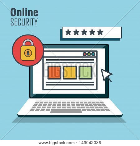 security protection data base vector illustration eps 10