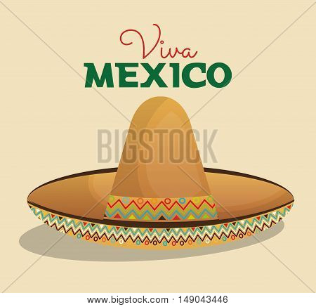 hat mexican beige color design vector illustration eps 10