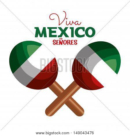 maracas flag mexico icon design vector illustration eps 10
