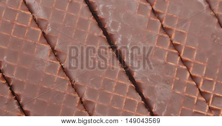 A Background Of Chocolate Peanut Butter Wafer Cookies