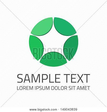 Abstract star logo icon. Design template elements. Branding Identity Corporate vector unusual symbol.
