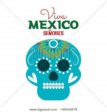 day of dead skull mexico festive design vector illustration eps 10