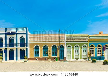 Colonial houses in Brazil