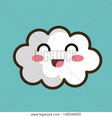 kawaii cloud white design graphic isolated vector illustration eps 10