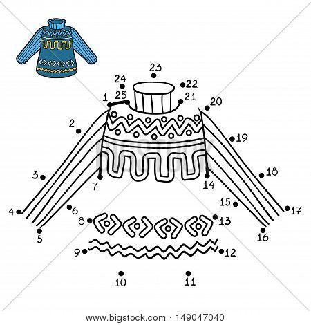 Numbers Game, Pullover With Winter Pattern