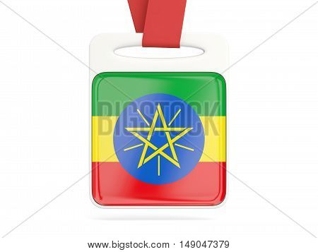 Flag Of Ethiopia, Square Card