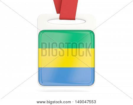 Flag Of Gabon, Square Card