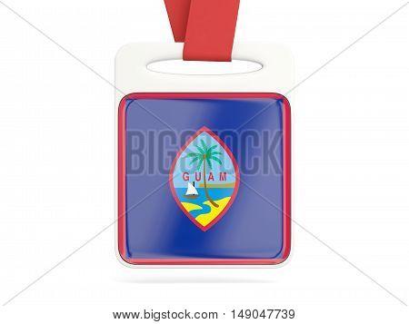 Flag Of Guam, Square Card
