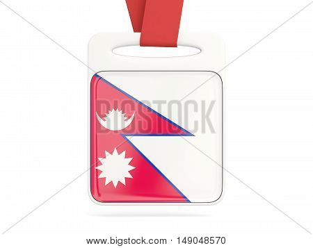 Flag Of Nepal, Square Card