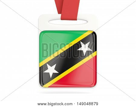 Flag Of Saint Kitts And Nevis, Square Card