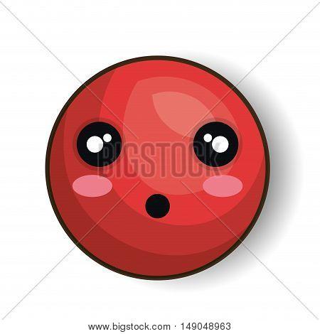 surprised emoji red graphic vector illustration eps 10