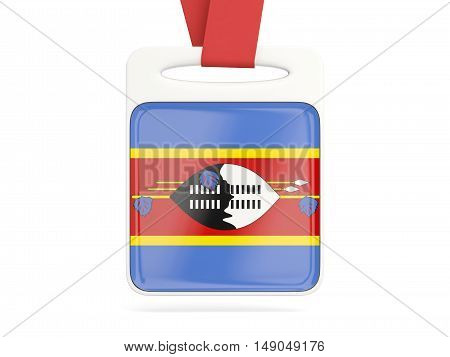 Flag Of Swaziland, Square Card