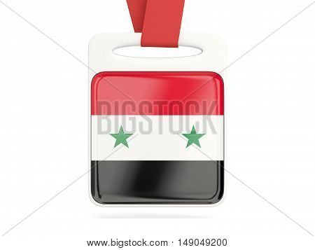 Flag Of Syria, Square Card