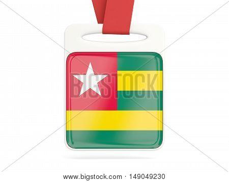 Flag Of Togo, Square Card