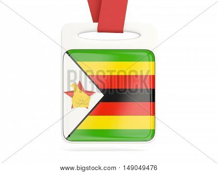 Flag Of Zimbabwe, Square Card