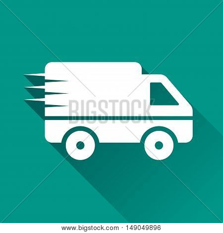 Illustration of van design icon with shadow