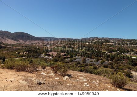 Aliso Viejo Wilderness Park view from the top hill in Aliso Viejo, California, United States