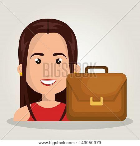 woman cartoon portfolio business graphic vector illustration eps 10