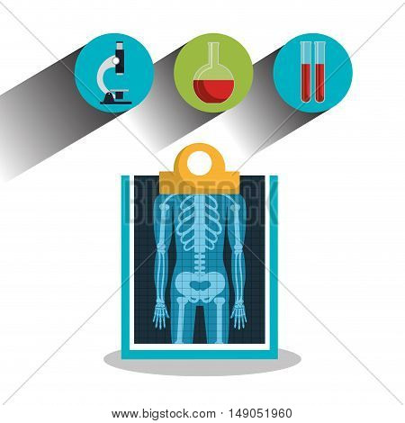 report x-ray icons medical service design graphic vector illustration eps 10