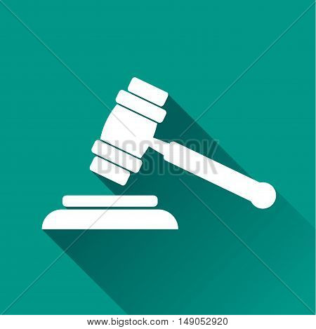 Illustration of auction design icon with shadow