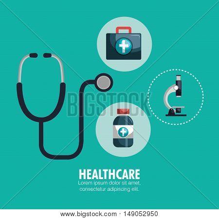 kit healthcare medical service design graphic vector illustration eps 10