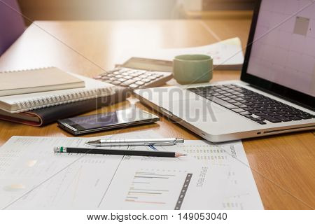 Business concept of office working business background