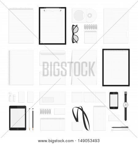 Blank corporate identity template set. Branding design. Business stationery mock-up.