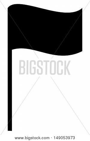 Black Flag Icon symbol set blank pennant sign