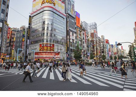 SHINJUKU TOKYO JAPAN-SEPTEMBER 11 : shinjuku important landmark and shopping area in heart of tokyo on september 11 2015 in Tokyo Japan