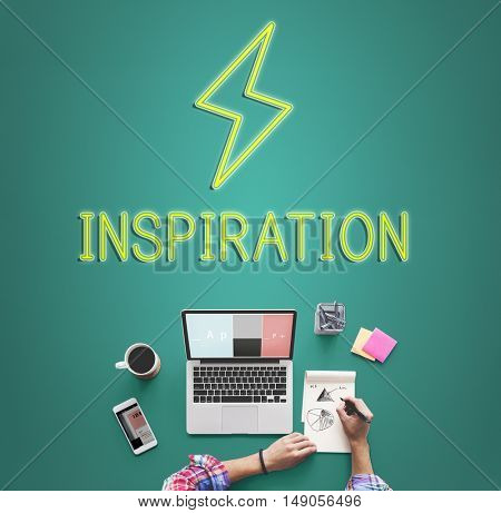 Creativity Ideas Lightning Imagination Inspiration Concept