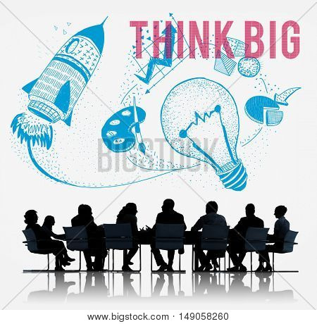 Think Big Ideas Creativity Imagination Light Bulb Concept