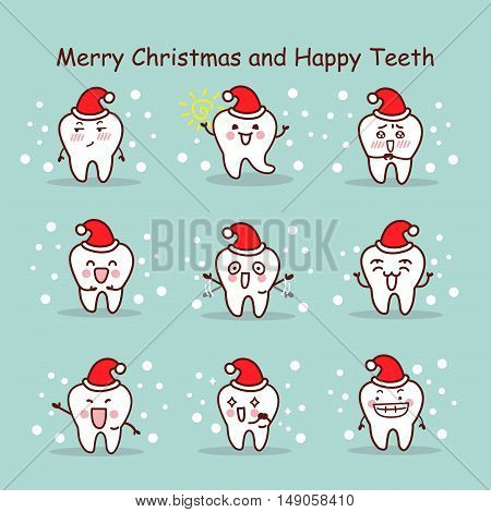 merry christmas and happy teeth great for your design