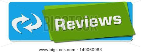 Reviews concept image with text and related symbol.