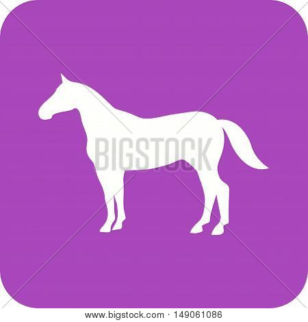 Farm, horses, grazing icon vector image. Can also be used for farm. Suitable for use on web apps, mobile apps and print media.