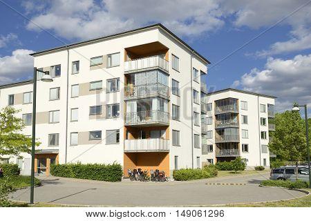 Swedish apartment Block in Stockholm area .