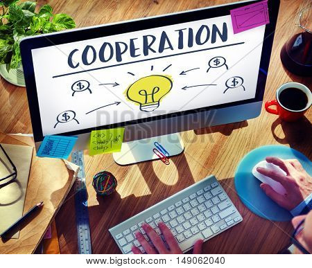 Cooperation Alliance Company Unity Teamwork Concept