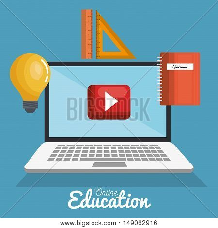 distance education, study creativity education online graphic vector illustration