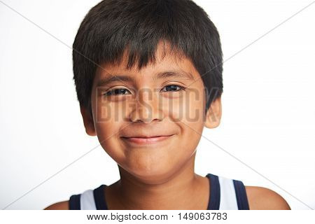 Portrait Of Boy With Smile