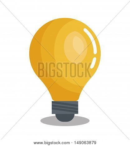 bulb idea solution think design graphic vector illustration