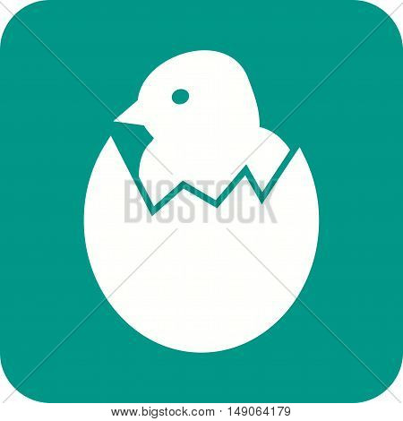 Egg, chicken, hatched icon vector image. Can also be used for farm. Suitable for mobile apps, web apps and print media.