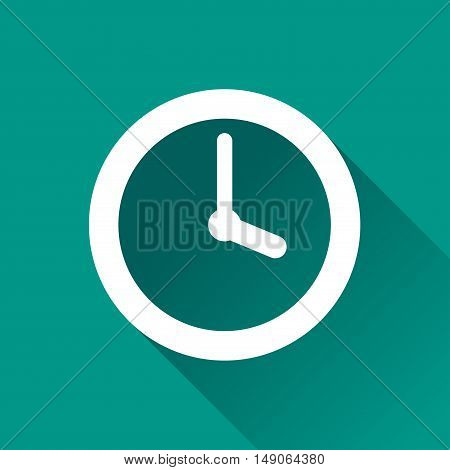 Illustration of timer design icon with shadow