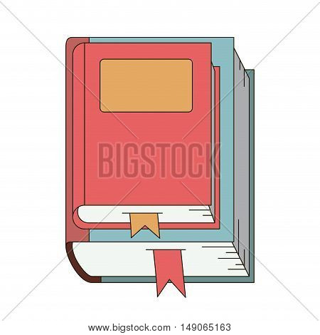 Book icon. literature education and learning theme. Isolated design. Vector illustration