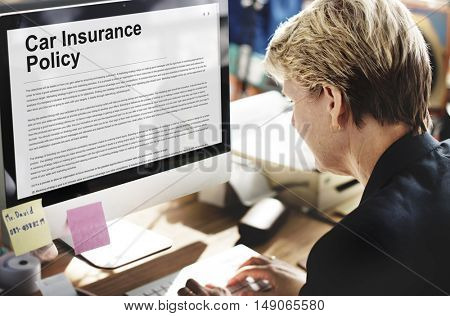 Car Insurance Policy Security Concept