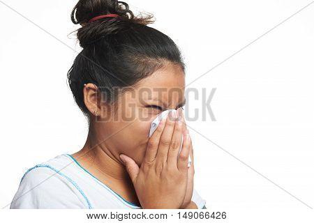 Latina Girl With Flu