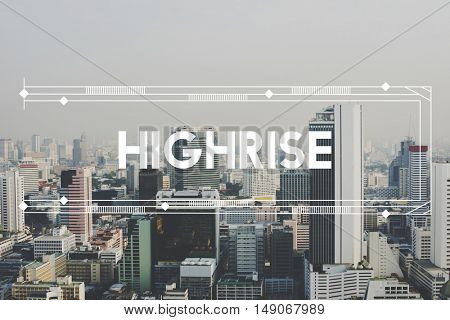 Modern Building Architecture Capital City Words Graphic Concept