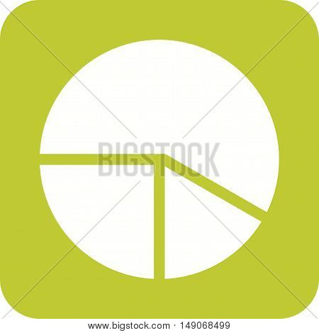 Chart, pie, graph icon vector image. Can also be used for web. Suitable for use on web apps, mobile apps and print media.