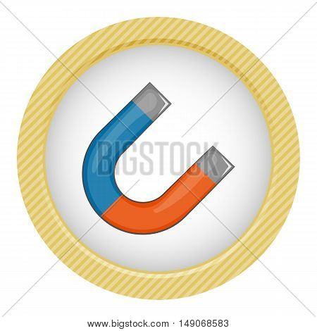 Magnet colorful icon. Vector illustration in cartoon style