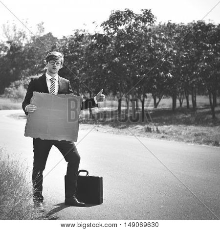 Businessman Corporate Enterprise Help Support Concept