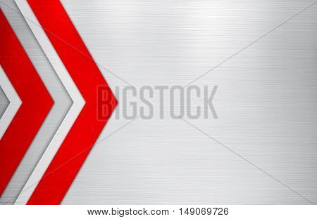 metal template with arrow pattern background