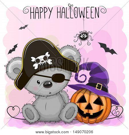 Halloween Illustration Of Cartoon Bear